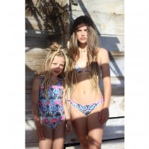 Triangle Bikini Teens Aquarius Blau metallic